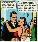 Clark og Lois på date. 'Action Comics' #1 (1938)