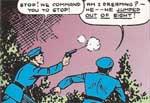 The Man of Steel gør politiet til grin. 'Action Comics' #8 (1939)
