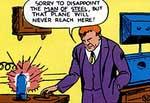 Lex Luthor inden han mistede sit hår. 'Action Comics' #23 (1940)