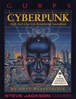 'GURPS Cyberpunk' - bemærk trekanten med lidt sladder i nederste hjørne.