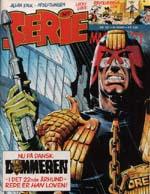 Det første nummer af 'Seriemagasinet', der havde en 'Dommer Dredd'-historie