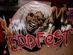 Det officielle Eddfest-skilt fra Indien. Rasmus betalte nogle lokale for at pille skiltet ned efter festivallen.