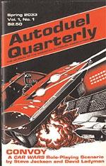 Forsiden af det første 'Autoduel Quarterly'