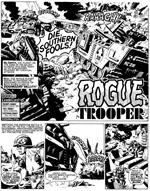 Rogue Trooper i Dave Gibbons' klassiske streg (fra 'The Future of War')