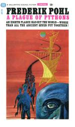 Førsteudgaven af 'A Plague of Pythons', Ballantine Books 1965.