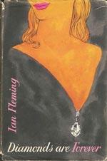 Førsteudgaven af 'Diamonds Are Forever', Jonathan Cape, 1956