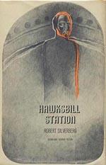 Forsiden af førsteudgaven af 'Hawksbill Station', Doubleday 1968.