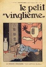 Forsiden af 'Le Petit Vingtième' den 13. december 1934