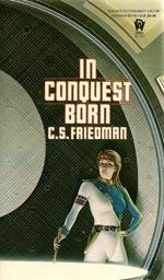 Førsteudgaven af 'In Conquest Born', Daw Books 1987.