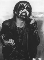 King Diamond (eller Kim Bendix Pedersen) i klassisk fuld make-up