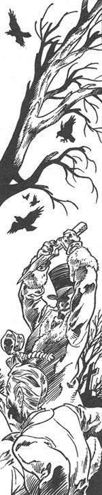 En indre illustration fra 'Vampyrfesten'.