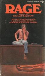 Førsteudgaven af 'Rage', Signet Books 1977.