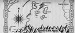 I bogen findes også en skitse af Icewind Dale, hvor man ser søerne og byernes placering.
