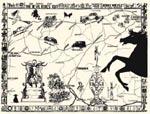 Kort fra den første udgave af romanen.