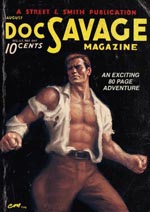 Forsiden af ét af de originale 'Doc Savage'-magasiner