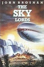 Forsiden af førsteudgaven af 'The Sky Lords' (1988)
