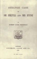 Titelbladet på førsteudgaven af 'The Strange Case of Dr Jekyll and Mr Hyde' (London 1886)