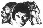Enkel skildring af hovedkonflikten: mand, ulvemand og ulv
