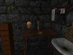 Dr. Gygax læser 'The Worship of Ghouls' nede i sin kælder.