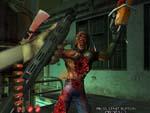 Zombie går amok med motorsav.