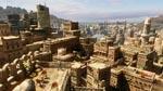 Grafikken er ikke sjældent decideret betagende. Her er det udsigten ud over byen i Yemen.