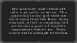 Et stykke stemningsskabende tekst inspireret af stumfilm.