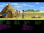 Zak i Afrika - bemærk at heksedoktoren modtager betalingskort: typisk LucasFilm Games-humor