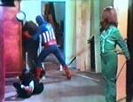 Captain America i aktion!