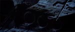 Nostromo glider gennem rummet på vej mod Jorden.