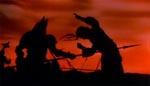 Dracula spidder en fjende i filmens prolog.