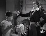 Mary Shelley (Elsa Lanchester) og Lord Byron (Gavin Gordon).