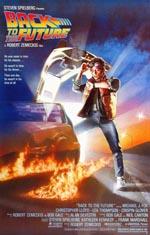 Den oprindelige filmplakat for 'Back to the Future'.