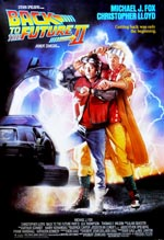 Den oprindelige filmplakat for 'Back to the Future Part II'.