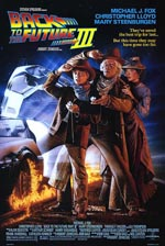 Den oprindelige filmplakat for 'Back to the Future Part III'.