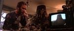 Fra kartoffelmos til ler: Ray har bygget en kæmpemodel af sit syn inde i stuen - bemærk TV'et