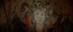 En af de angiveligt meget gamle freskomalerier, der forestiller Satans søn - men hov, det er jo lille Damien
