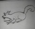 En af Jims tegninger af de rædselsvækkende mutanter han engang har set