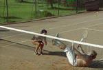 Lagkagekomik på tennisbanen