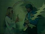 Murat med det magiske sværd (!) - den tilsvarende magiske hjerne ligger i æsken.