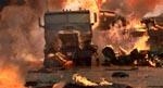 Den spektakulære trafikulykke, som Kimberly og co. med nød og næppe undgår.