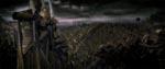 Fra filmens introsekvens - orkerne angriber