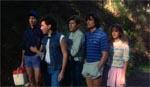 Næsten hele banden samlet. Fra venstre er det Paul, Ted, Jimmy, Doug og Sara.