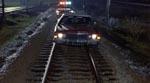 Køretur på togskinnerne.