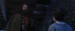 Robbie Coltrane som den venlige kæmpe Hagrid.