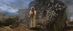 Vismanden foran alteret, hvor der mangler en Sankara-sten