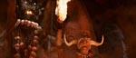Mola Ram foran statuen af Kali