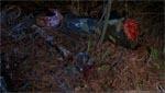 De sørgelige rester af en af de meget fjollede paintball-folk.