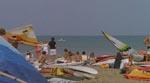 En typisk strandscene, igen som taget ud af 'Jaws'