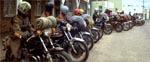 Gruppen af vanvittige motorcykelbøller - de såkaldte 'nomads'