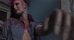 En af Franks mannequindukker - bemærk hvorledes blodet er løbet fra den rigtige skalp, som mannequinen har på